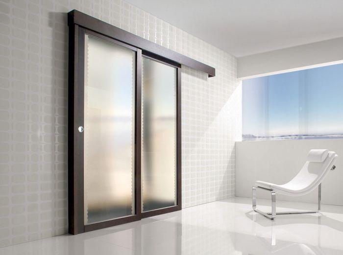 Spazio - Porta per interni in legno e vetro