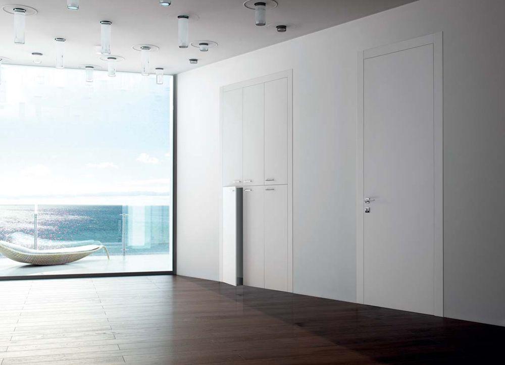 Linear - Porta per interni in legno laccato