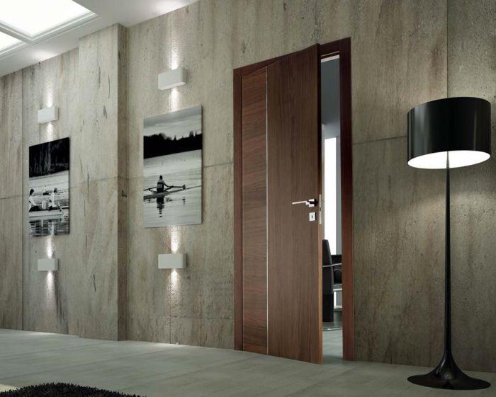 Sky - Porta per interni in legno canaletto marrone