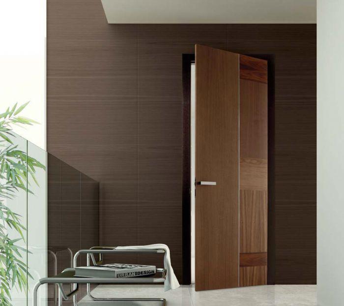 Stone - Porta di design in legno marrone