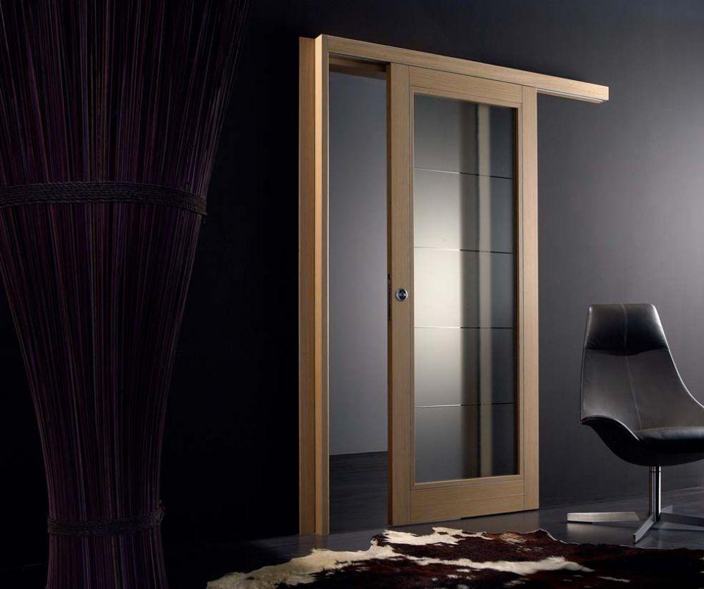 Orione - Porta per interni in legno e vetro