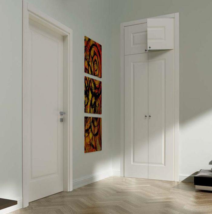 D1A - Porta classica in legno laccato bianco